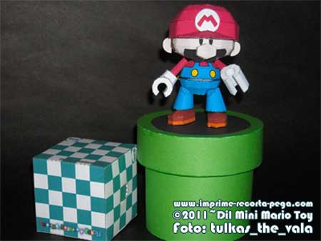 Wind Up Mini Mario Papercraft