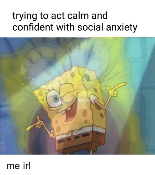 Social anxiety meme