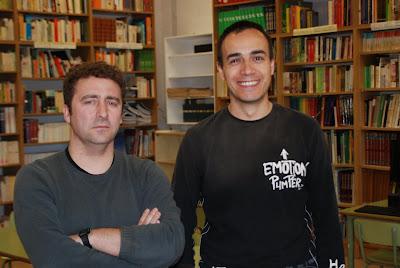 A lesquerra, en Xavier; a la dreta, en Vicenç