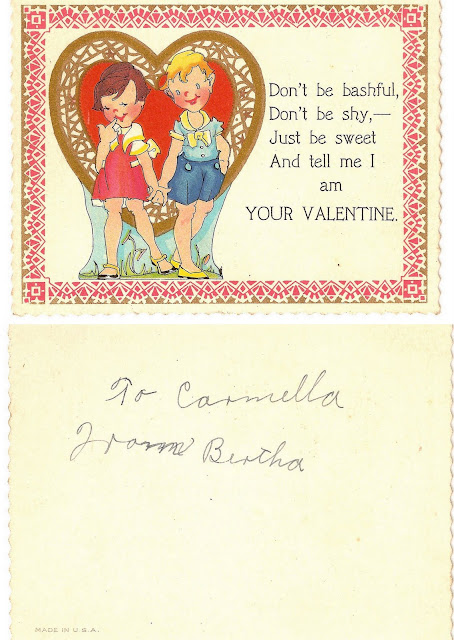 antique vintage old valentine grandma's children sweet