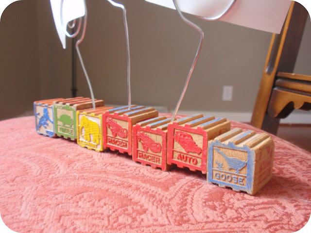 custom name wooden vintage block photo holder