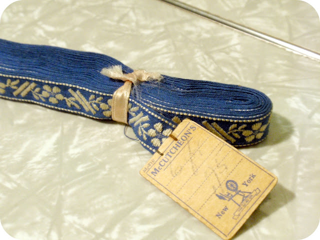 vintage blue ribbon