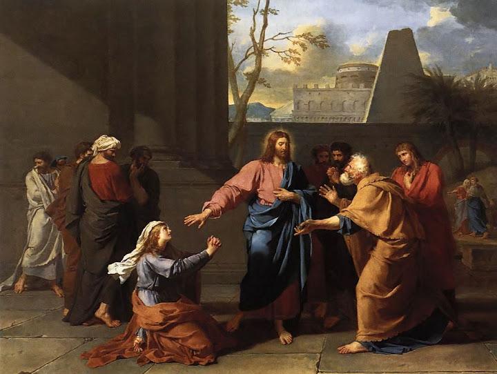 Germain-Jean Drouais: Krist i žena Kanaanka