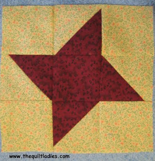 Fifty-Two Weeks of Quilt Pattern Blocks in Fifty-Two Weeks, Week 19 Friendship Star Quilt Pattern