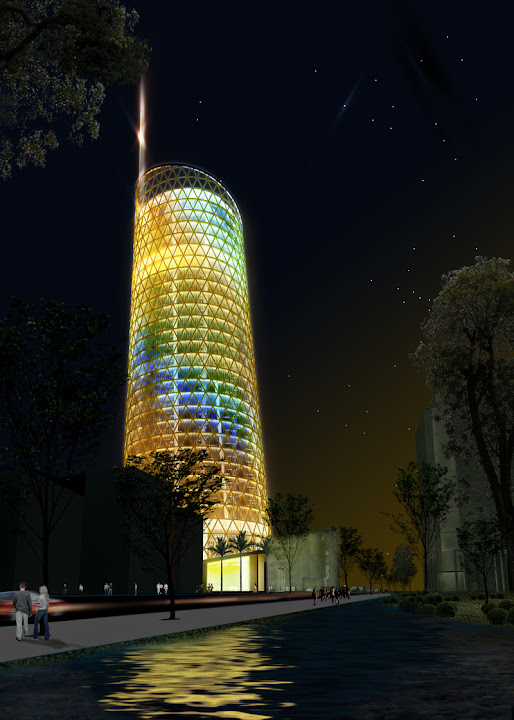 Summary of design Fpt office tower, Ha Noi-Viet Nam, Design by Ho Thieu Tri architect and associates