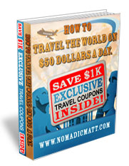 How to travel the world on 50 USD per day