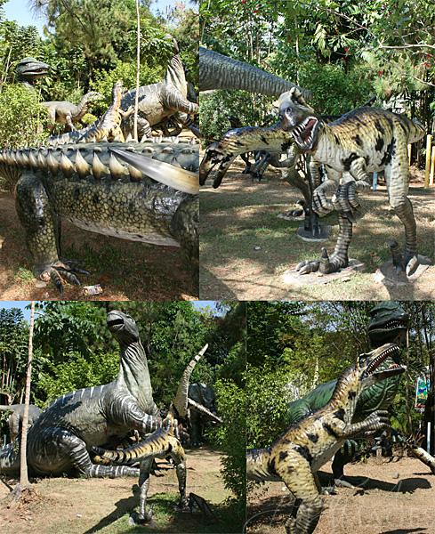 dinosaur sculptures
