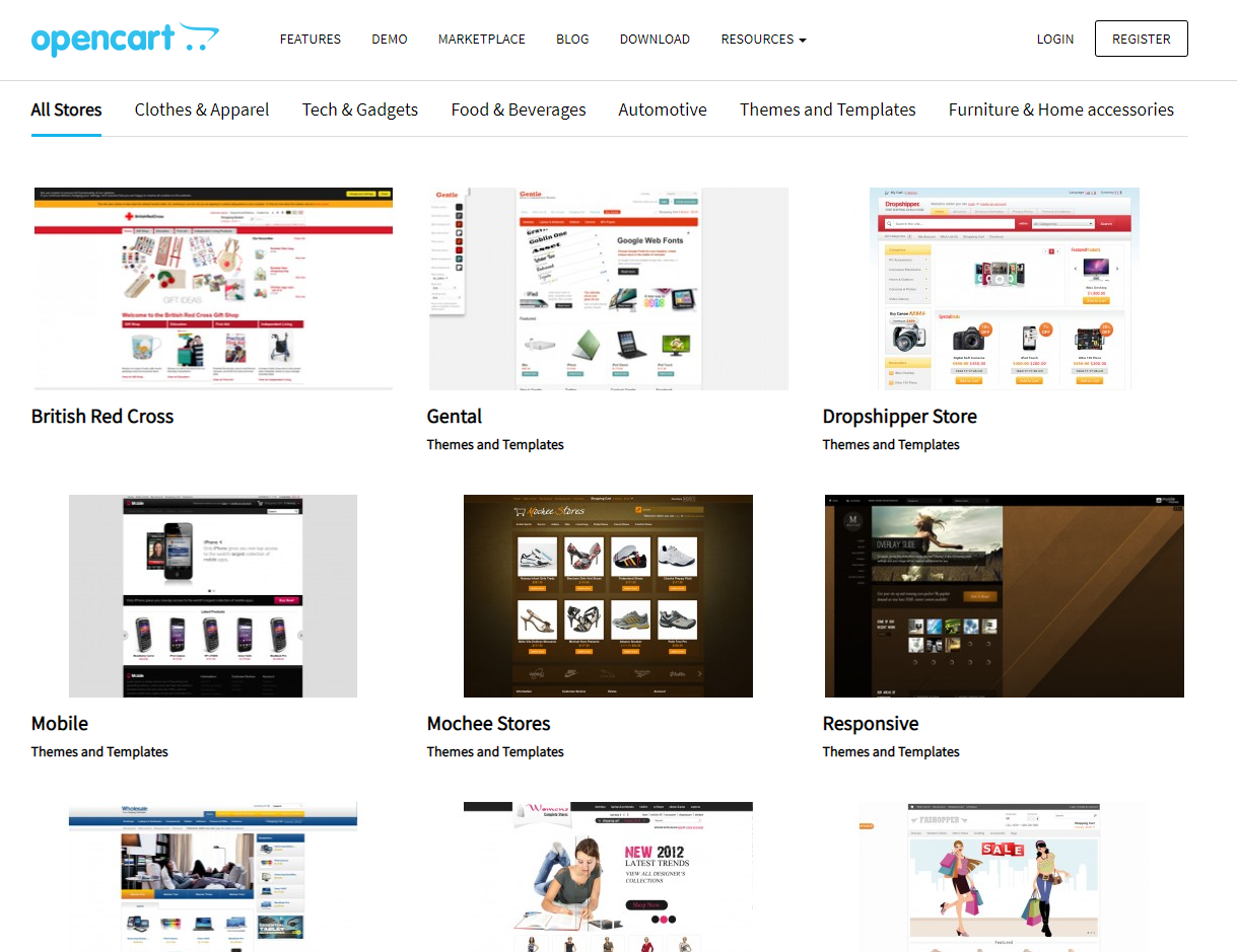 Design and Themes opencart