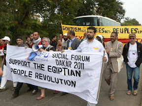 WSF 2011 - Sign: Support Egyptian People Revolution