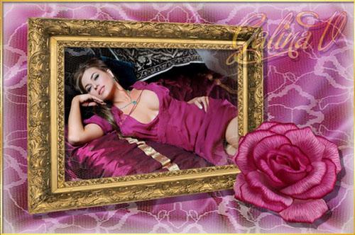 Рамка для фото - Шёлк и роза