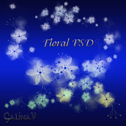 PSD-исходник - Цветочные элементы