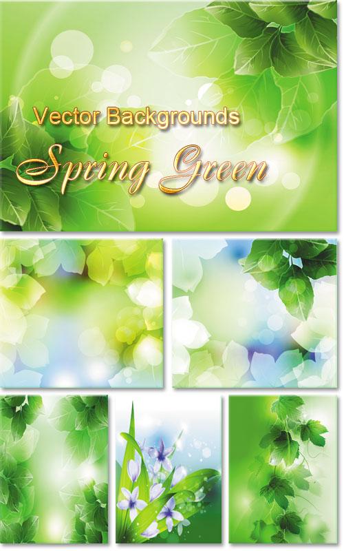 Векторные фоны - Зелёная Весна