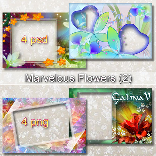 Photoframe Set - Marvelous Flowers (Part 2)