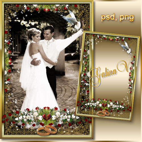 Wedding Photoframe - Wishing Long and Happy Life!