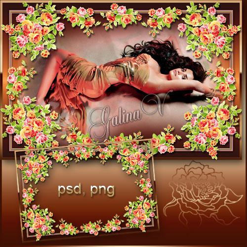 Цветочная фоторамка - Плетение роз