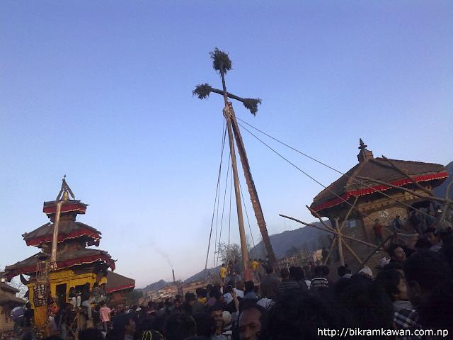 Bhaktapur Lingo Bhairav Nath Rath and Bhadrakali on new year