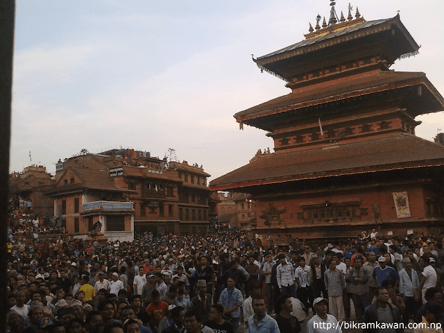 Bhairav Temple at Last day of Bisket Jatra