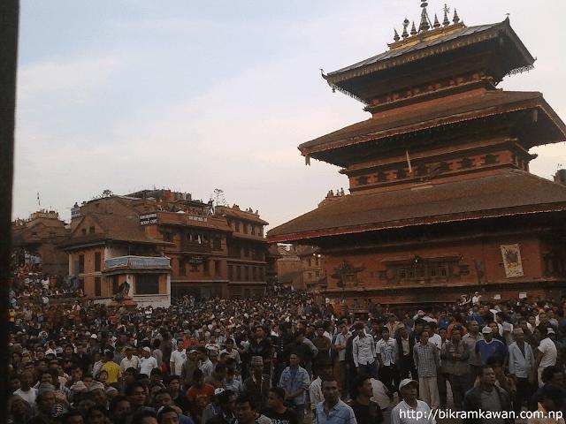 Bhairav Temple at Last day of Bisket Jatra