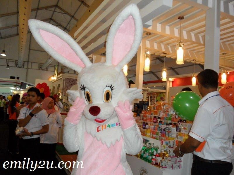 Champs bunny mascot