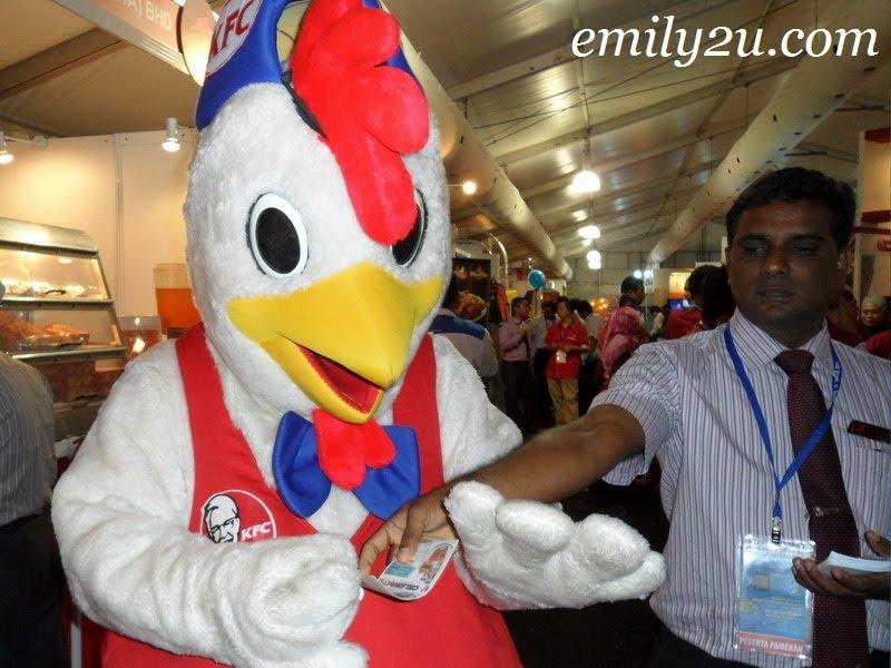 KFC chicken mascot