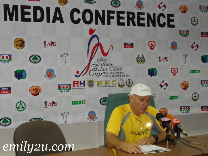 hockey press conference