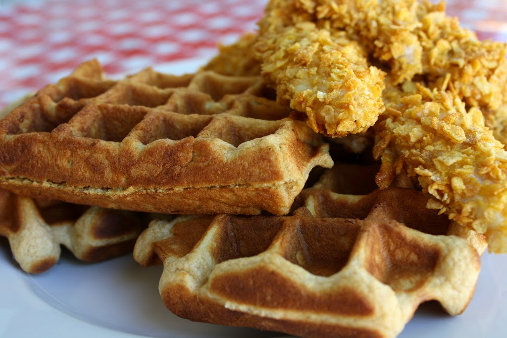 Healthy Chicken and Waffles