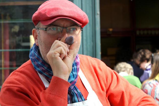 Man Selling Cuberdons in Ghent