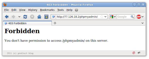 phpmyadmin forbidden