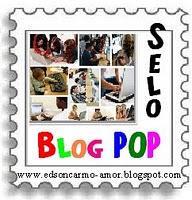 """SELO """"BLOG POP"""" oferecido pela amiga Lena"""