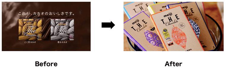 Meijiチョコレートのパッケージ変更の成功事例
