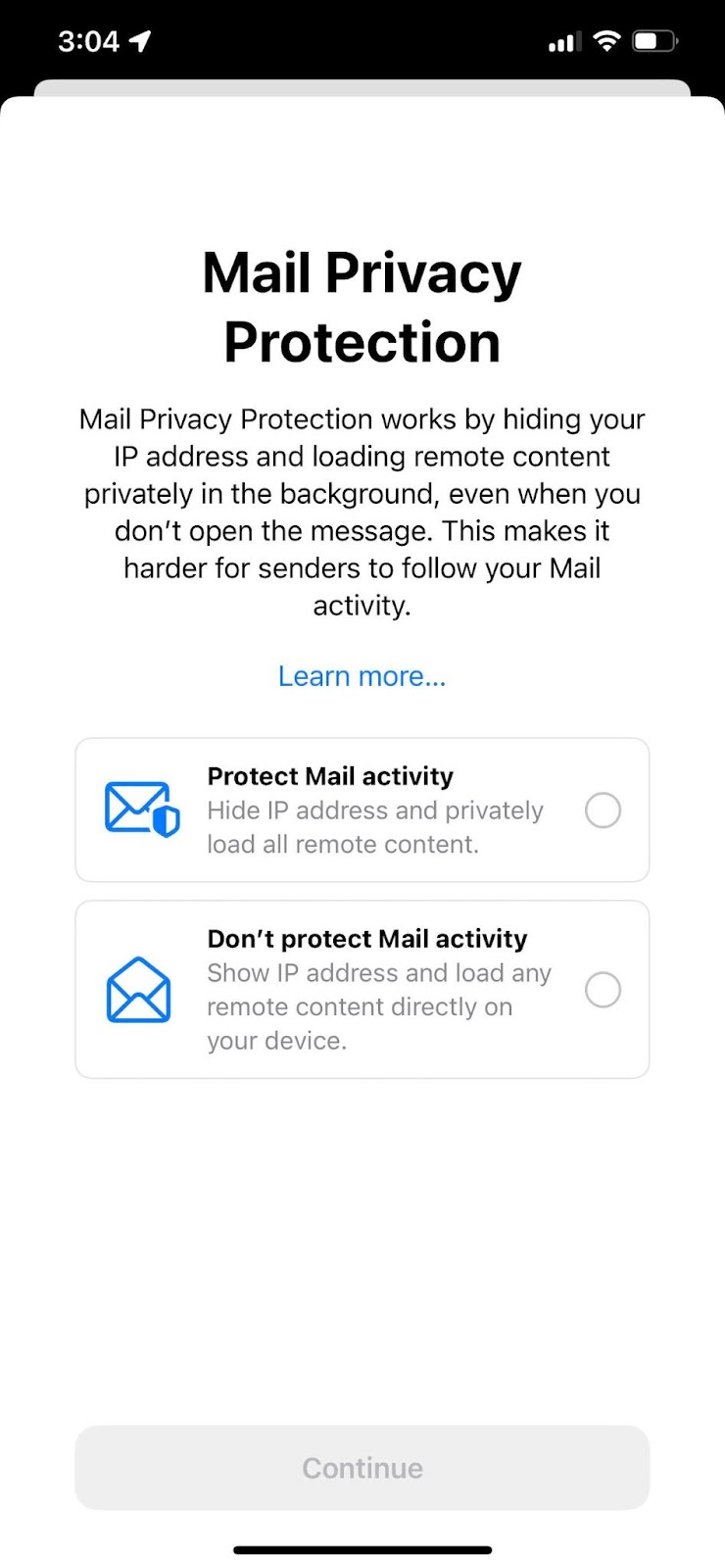 Apple Email Privacy Opt-In