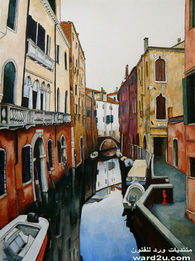جوله  في لوحات فنيه لمدينة البندقيه
