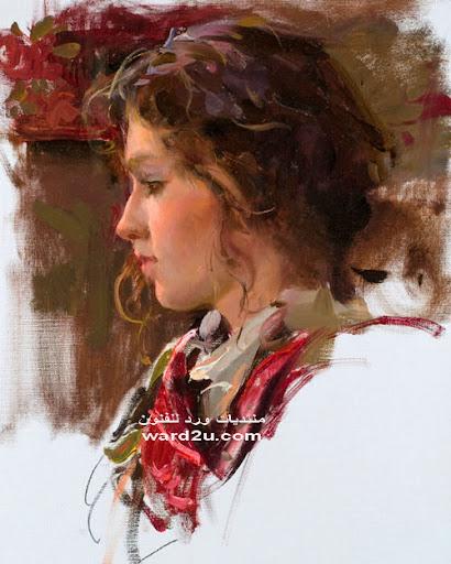 رسومات انثويه في لوحات رومانسيه