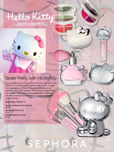 2d7dd764d ... Sanrio for the Sephora Hello Kitty Beauty collaboration! The release of  this ultra cute line is being celebrated with special events around Los  Angeles!
