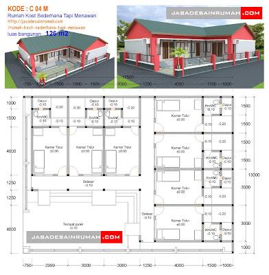 rumah kost sederhana tapi menawan @ jasa desain rumah