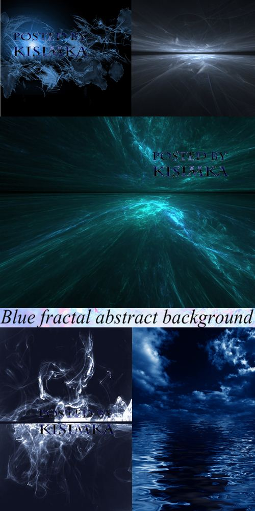 Stock Photo: Blue fractal abstract background