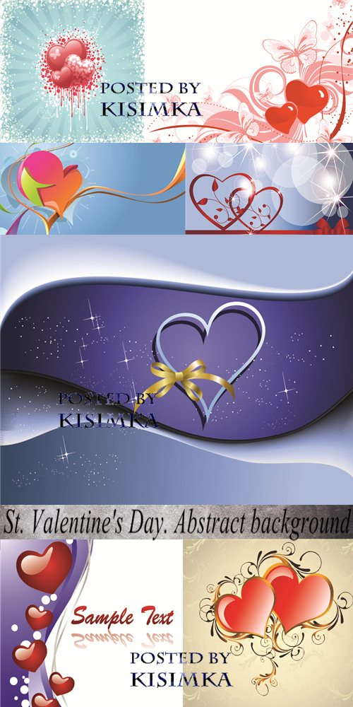 Stock: St. Valentine's Day. Abstract background
