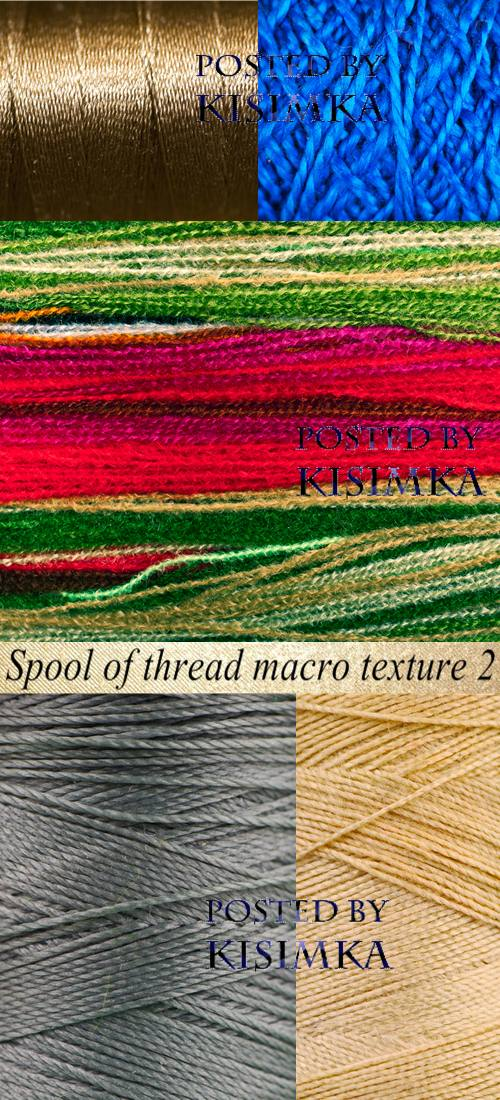 Stock Photo: Spool of thread macro texture 2