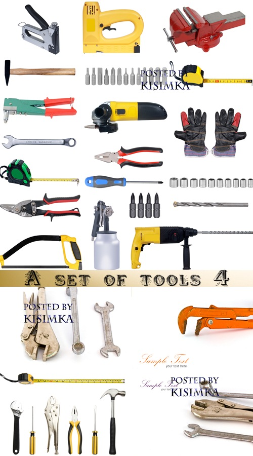 Stock Photo: A set of tools 4