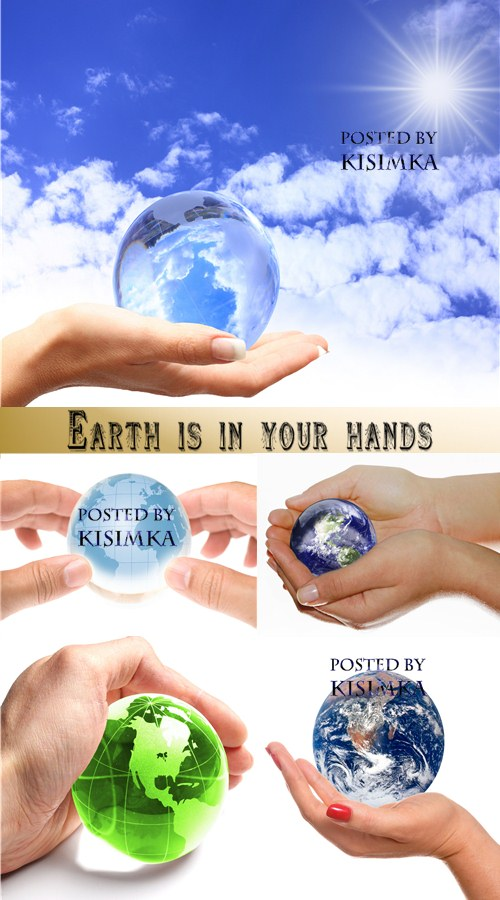 Stock Photo: Earth is in your hands