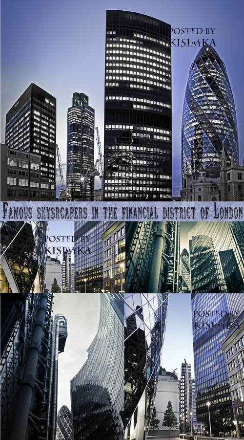 Stock Photo:Famous skysrcapers in the financial district of London