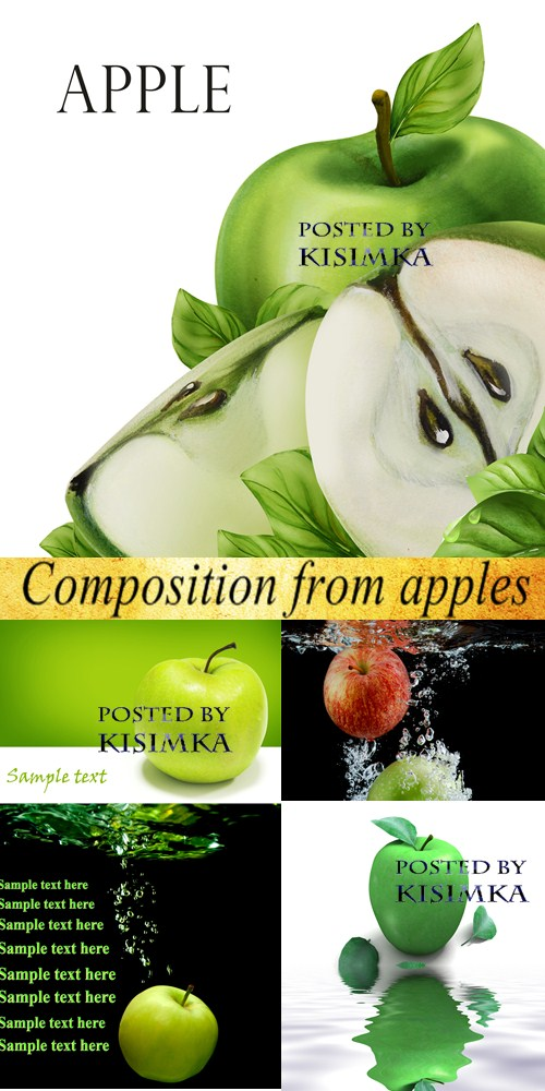 Stock Photo: Composition from apples
