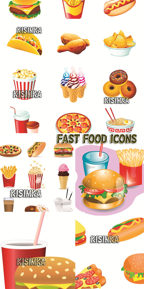 Stock: Fast food icons