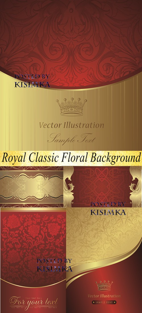 Stock: Royal Classic Floral Background