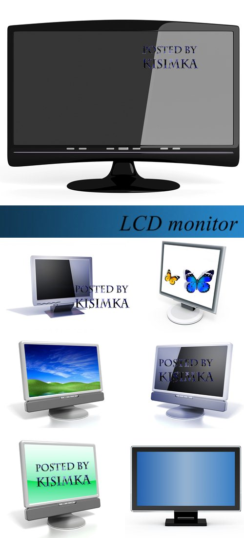 Stock Photo: LCD monitor