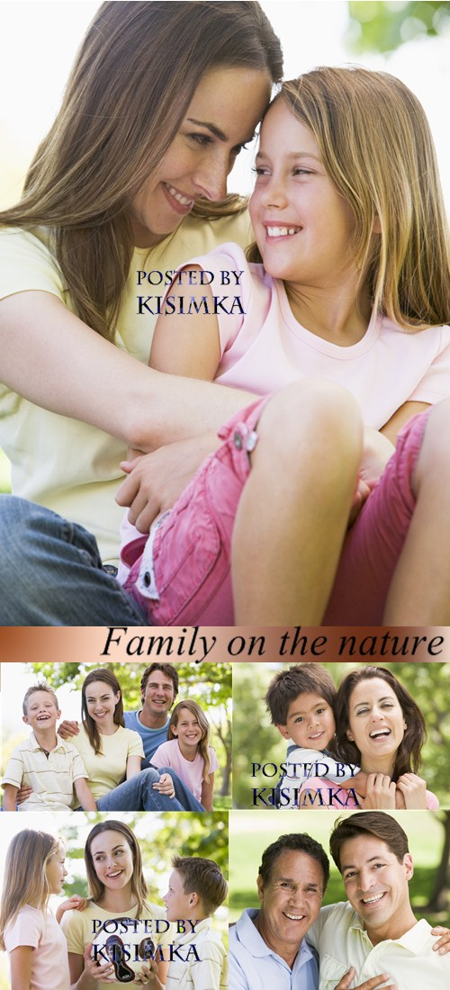 Stock Photo: Family on the nature 2