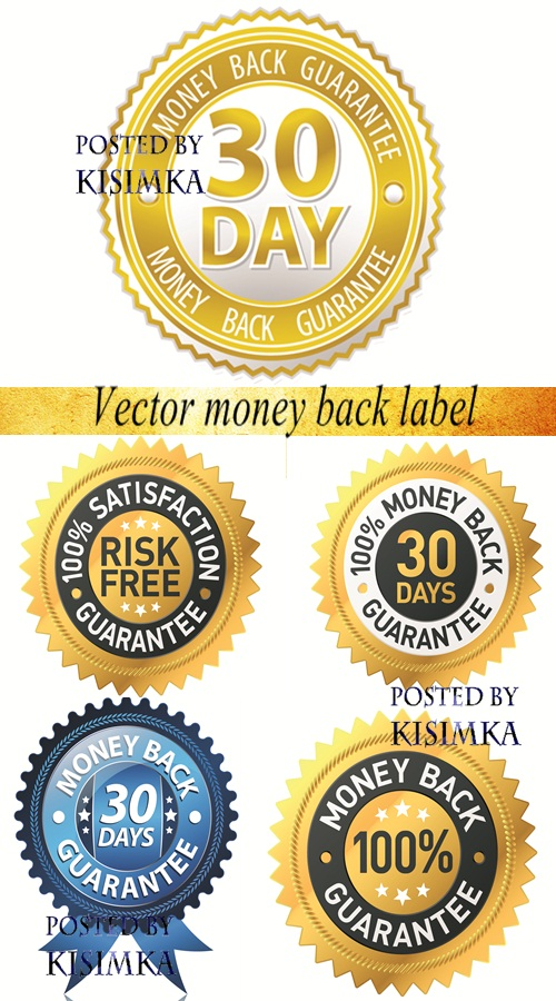 Stock: Vector money back label