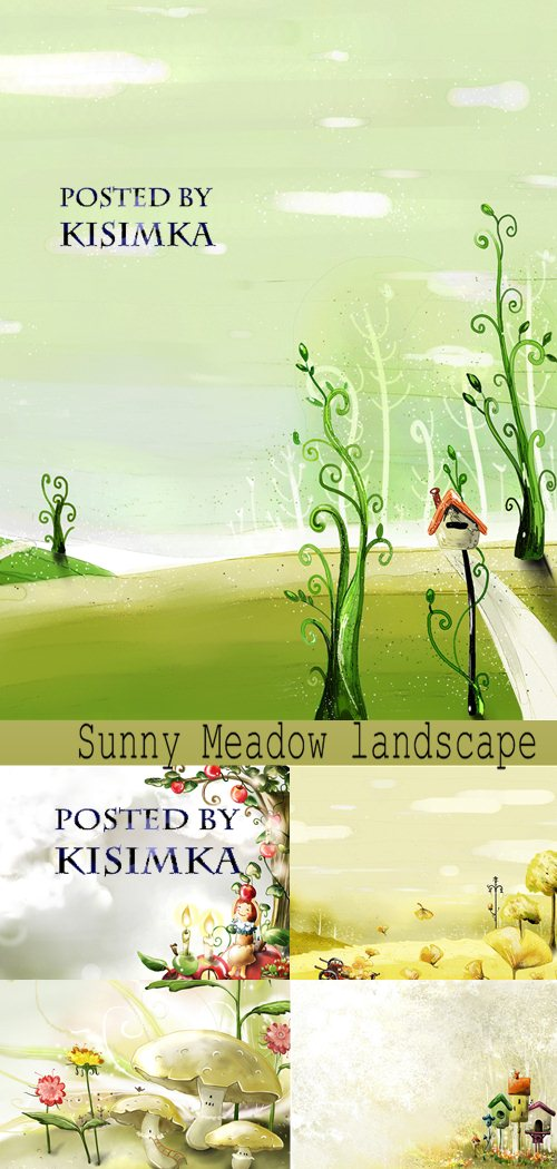 Stock Photo: Sunny Meadow landscape