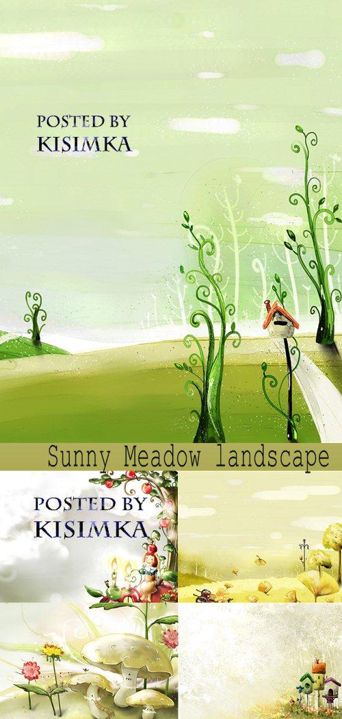 Stock Photo: Sunny Meadow landscape