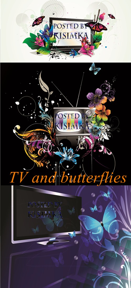 Stock: TV and butterflies